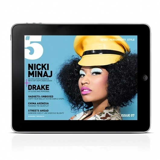 5MAG07NICKIMINAJ1.jpg 726×726 pixels #ipad #design #digital #app #magazine