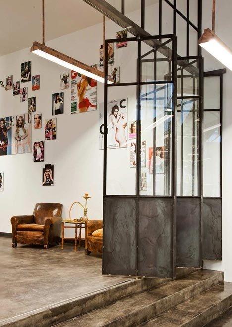 Mogeen Salon by Dirk van Berkel #interior #concrete #salon #door #furniture