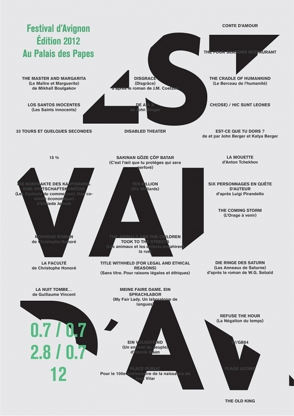Anagrama #typographic #french #poster