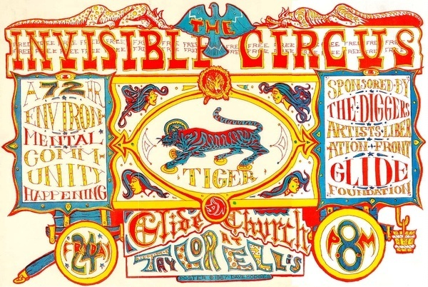 Invisible Circus Poster #illustration #circus #tiger #typography
