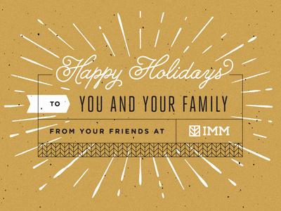 2013 IMM Holiday Card #imm #boulder #card #colorado #screen #printing #holiday