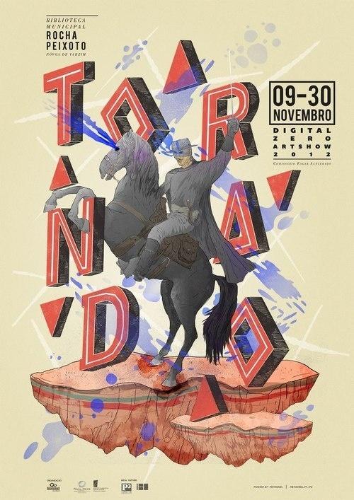 Tornado exhibition poster #zorro #illustration #poster