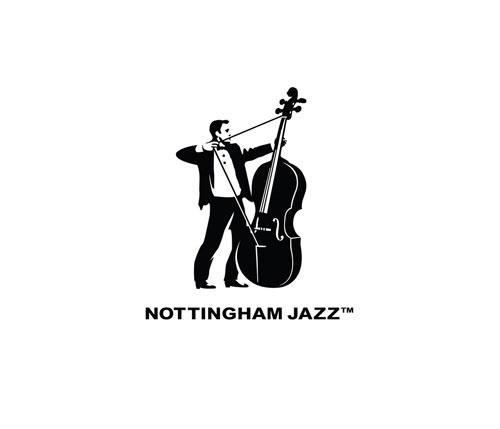 Nottingham Jazz | Logo Design Love #bass #visual #humour #nottingham #jazz #illustration #double #music #logo #clever