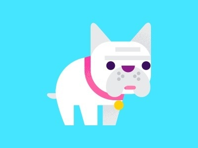 Pup #art #vector #colorful #dog #color #pug #frenchie