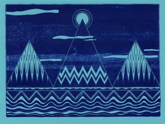 Prints : colorbeast #edition #riso #print #landscape #pyramids #risograph