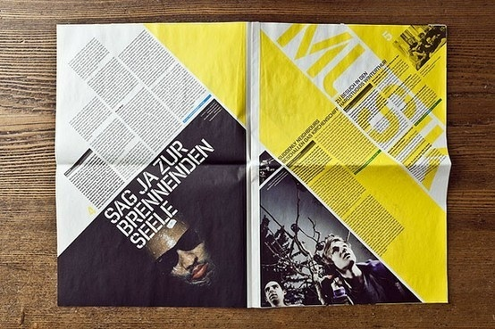 JKF Festival for youth culture – Newspaper by Andreas Hidber, via Behance #magazine