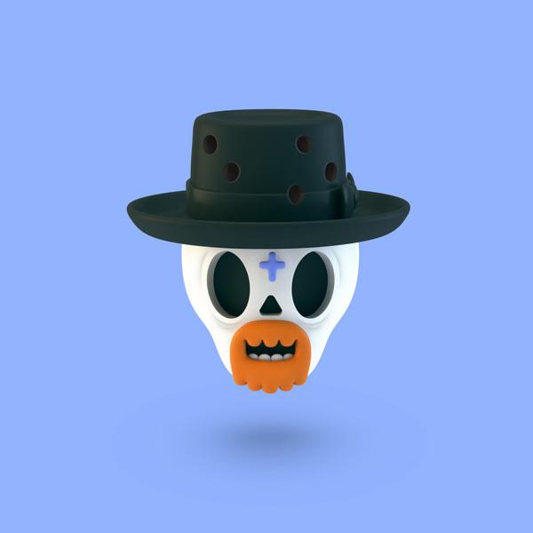 3D Illustrations on Behance #skull #3d
