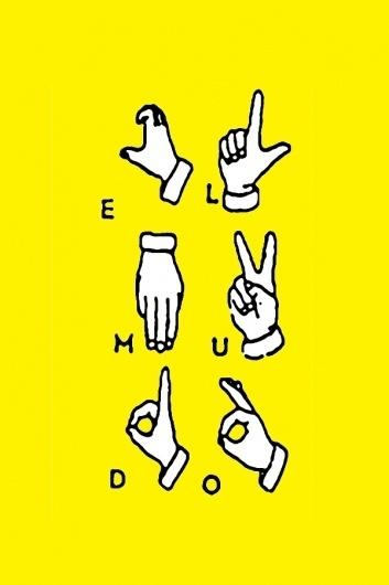El mudo #fanzine #yellow #poster #hand #elmudo