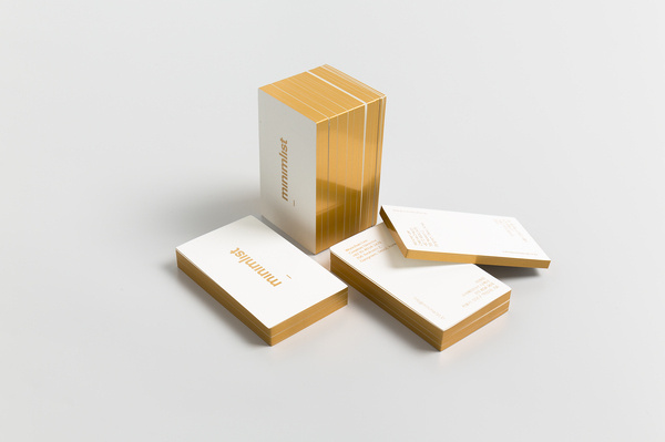 minimalist | boutique design studio #gold #card #business #edges