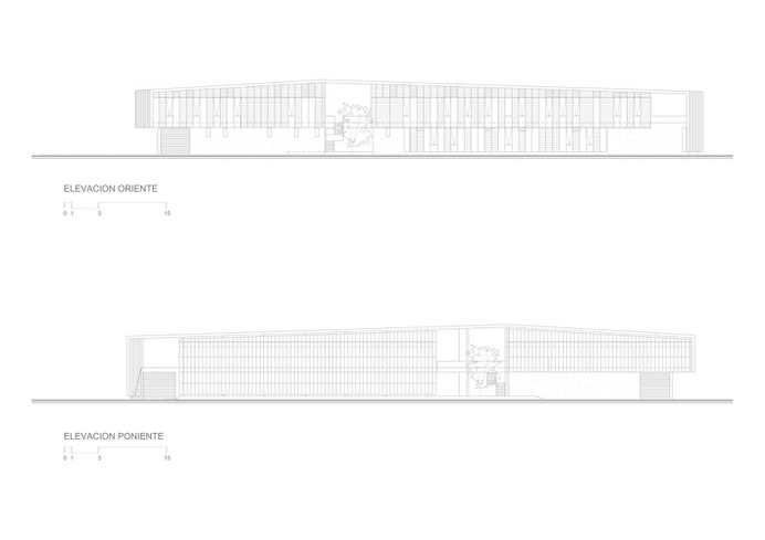 Logistics, Sales and Shelter of Expedition Building,Elevations