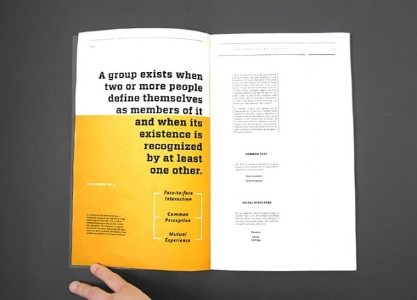 Design;Defined   www.designdefined.co.uk #text #yellow #book #layout #editorial #magazine #typography