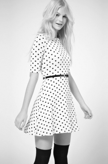 Merde! - Fashion photography (ASOS Skater Dress In Spot... #fashion