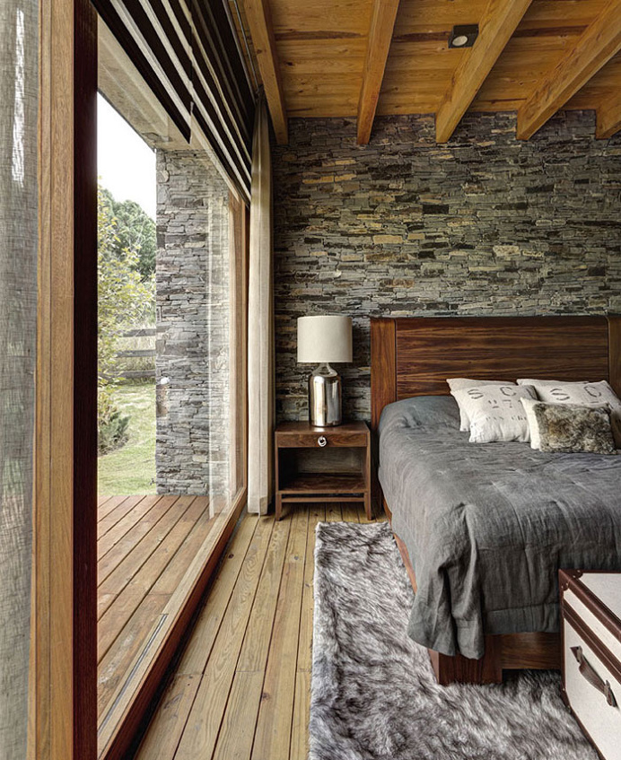 Stone House with Magnificent View by Elias Rizo Arquitectos - #bedroom, #interior, #decor, home, bedroom