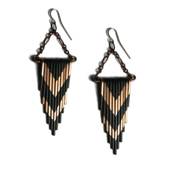 Copper Fringe earrings #earrings #jewelry