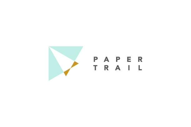 Paper Trail logo - Paper goods boutique #paperairplane #branding #identity #papergoods #logo #branding