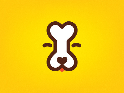 Dog bone logo by Dima Je #icon #logo #bone #dog