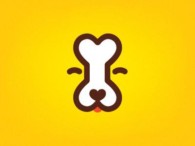 Dog bone logo by Dima Je #icon #logo #bone #dog