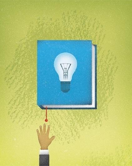 The Atlantic - Jon Ashcroft Design & Illustration #bulb #ashcroft #jon #hand #book #illustration #light #editorial