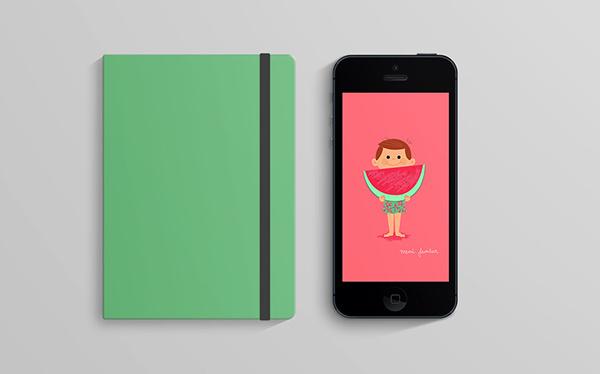 Cómete el Verano on Behance #iphone #verano #summer #sketchbook