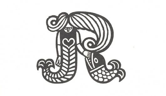 Scandinavian Trademarks - The Black Harbor #branding #retro #mermaid #identity #vintage #scandinavian #logo #animal