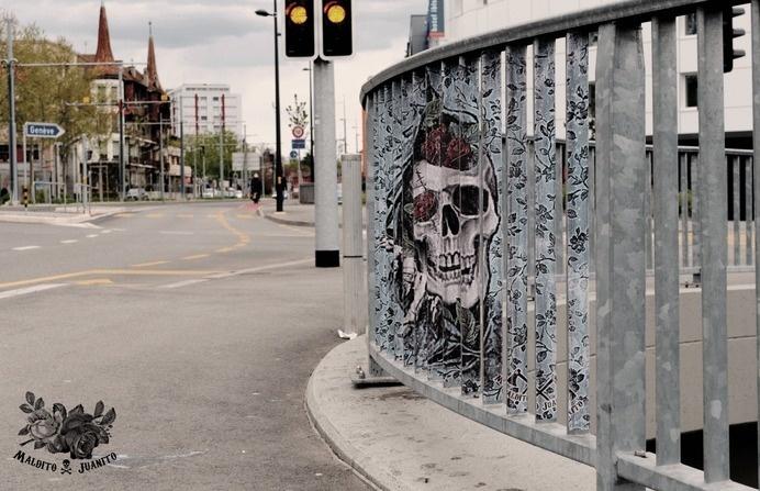 Maldito Juanito - #street art #wheat paste #maldito juanito #urbain art #illustration #collage #swiss #colombia