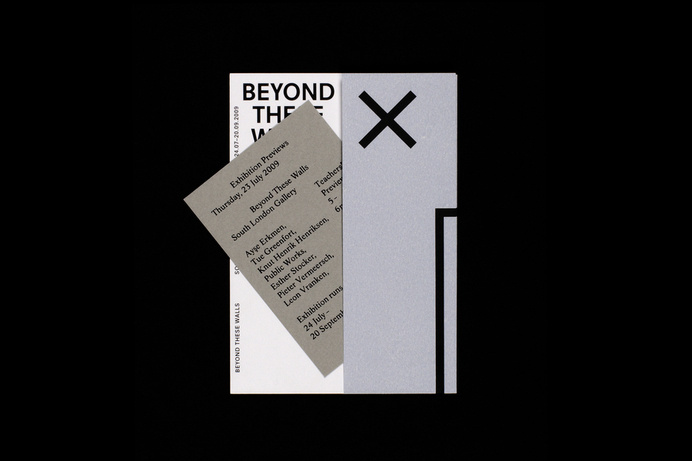 Beyond These Walls - OK-RM #exhibition #invite #print