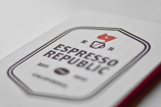 Espresso Republic   Salih Kucukaga Design Studio #identity #branding