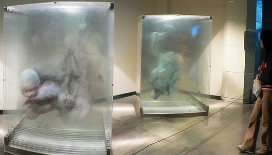 The 3D Paintings of David Spriggs and Xia Xiaowan #spriggs #glass #spatial #paintings #david
