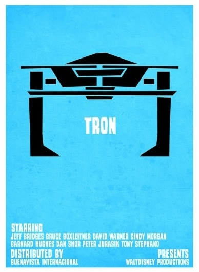 Tron VS. Saul Bass on the Behance Network #recognizer #retro #tron