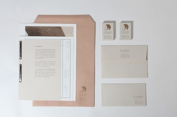 R J Scott #branding #letterpress #book #publication #furniture #natural #identity #logo