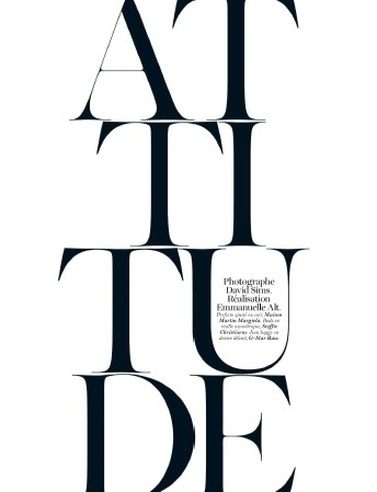 French Vogue April 2012 #vogue #white #black #and #graphics #editorial #typography