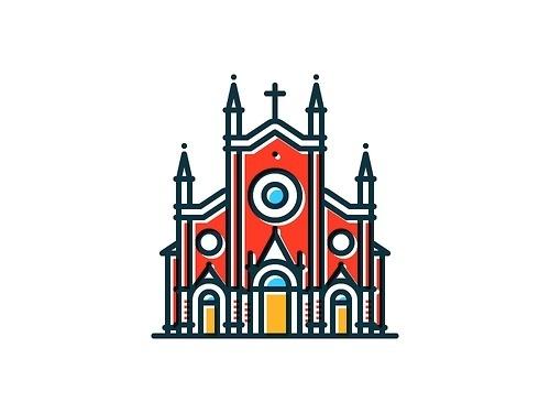 Tumblr #church #illustration #colorful