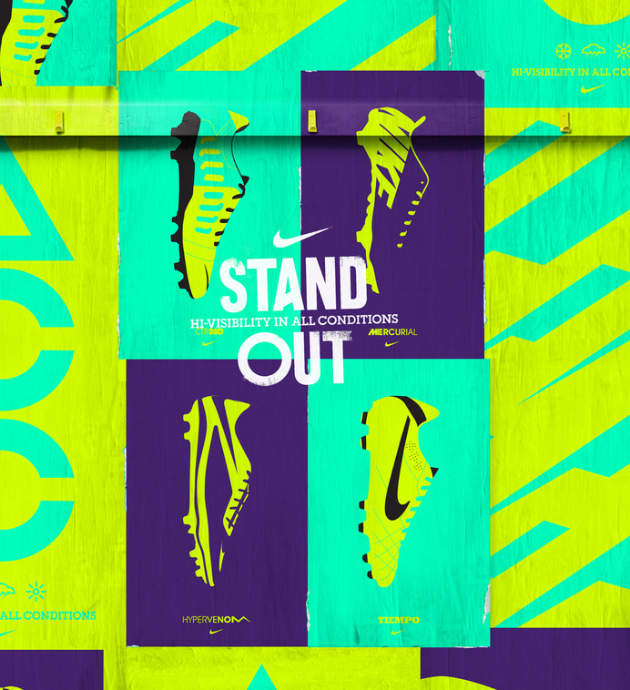 NIKE HI VIS — STAND OUT on Behance #nike #poster