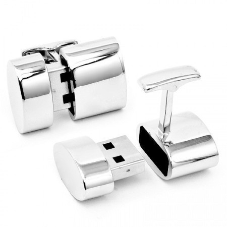 These cufflinks are not only fashionable but also functional. With these cufflinks, you can give you and everyone around you wireless intern