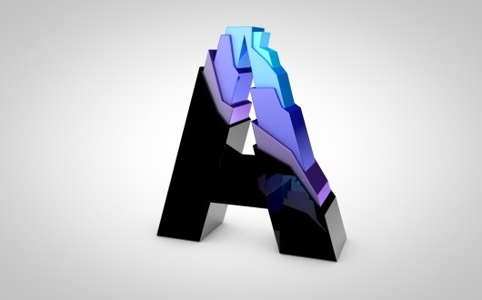 A by Jonathan Gibson #typography