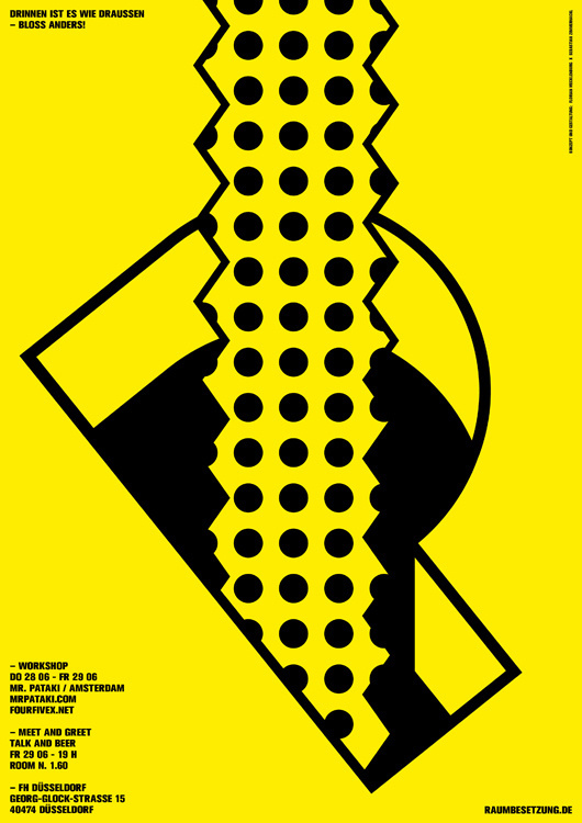 workshop mr.pataki   raumbesetzung #design #poster