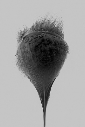 An Abrupt End: Explosive High-Speed Photos by James Huse   Colossal #monochrome #abstract #photography #sculpture