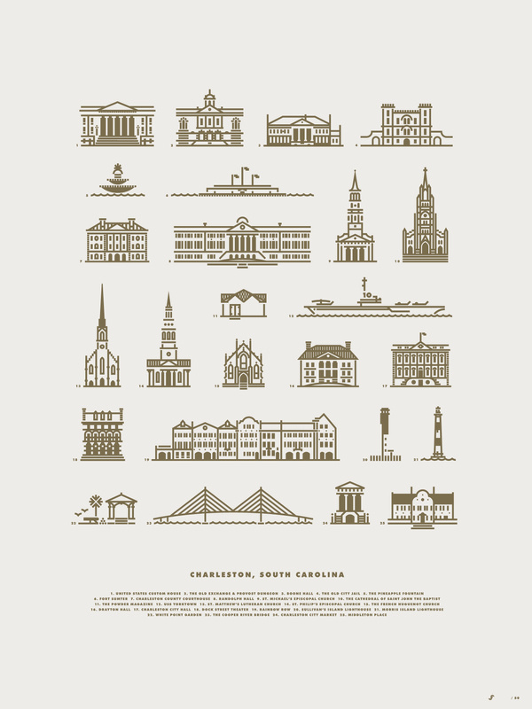 Charleston #illustration #city #lines #buildings #jay fletcher #charleston