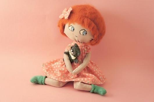 Mari Paz rag doll by lelelerele on Etsy #craft #handmade #doll