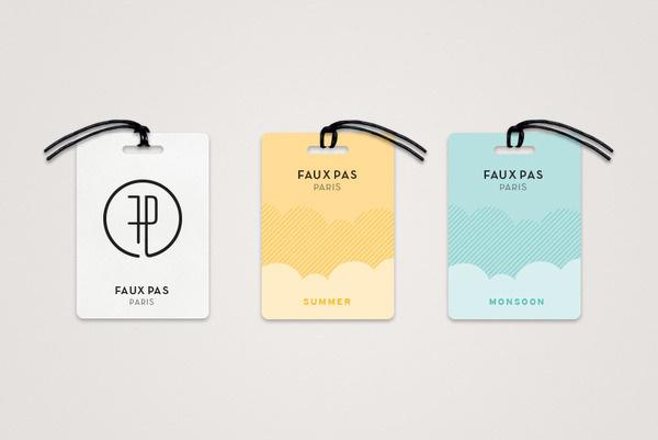 Faux Pas Paris #mandala #branding #tags #studio #fashion #logo