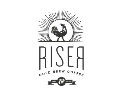 Dribbble - Riser Coffee Identity Direction (Brian) by Public School #rooster #design #identity #vintage #coffee
