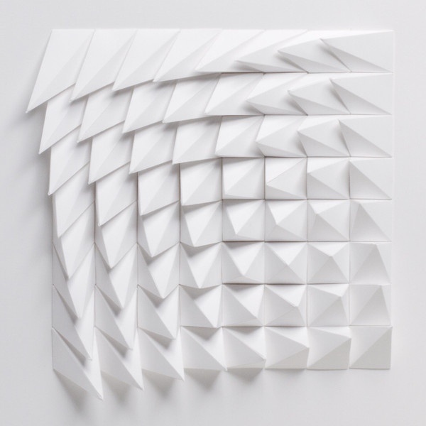 The Extraction Series by Matthew Shlian: Rotated: White | Art | The Ghostly Store #geometric #art