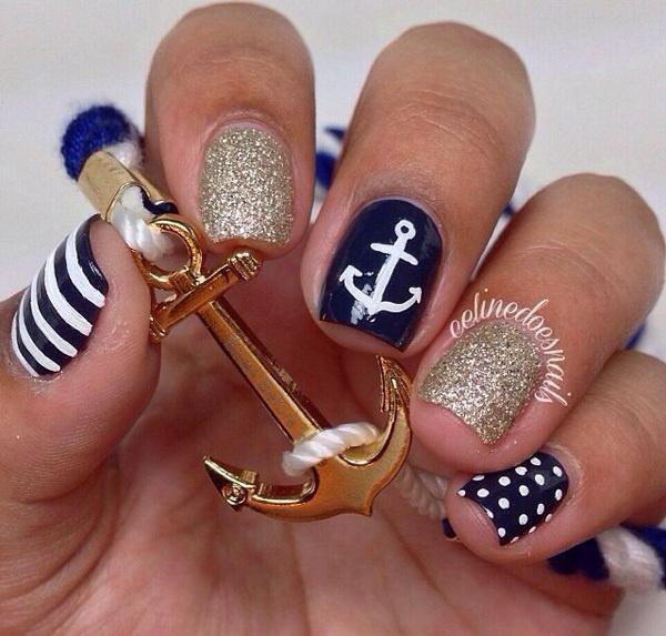 60 Cute Anchor Nail Designs #nail #anchor #designs - Best Anchor Nail Designs 60 Cute Images On Designspiration