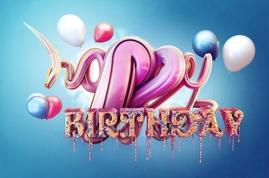 25 Creative Typography Designs - Testing the boundaries of creativity #pink #design #birthday #type #typography