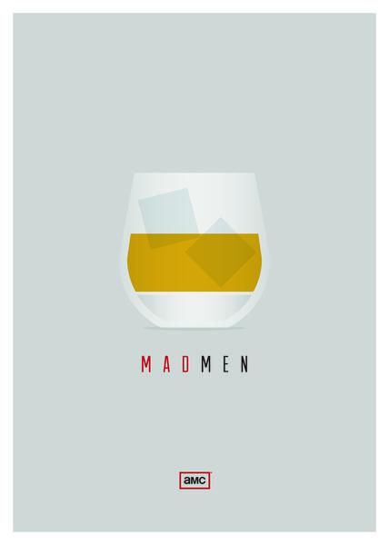 Mad Men Art Print #scotch #minimalism #men #poster #mad