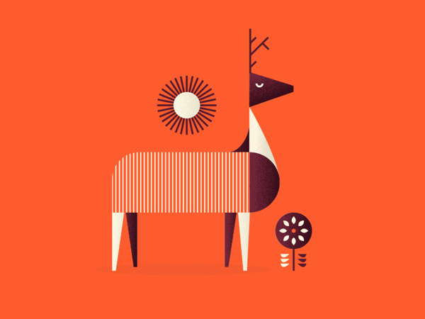 Illustrations on Behance #illustration #deer #sun