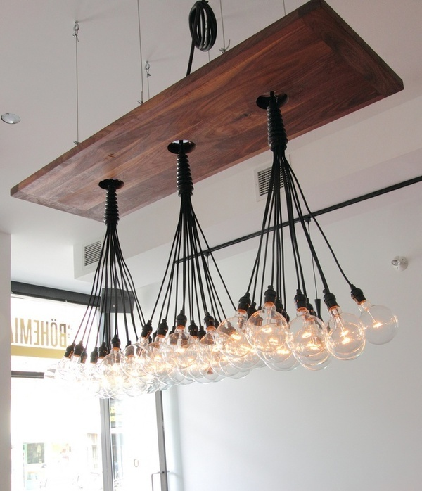 Pinterest #bulbs #lights #retro #multi #wood #light