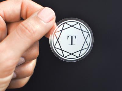 Tradesy logo mark sticker #mark #white #clear #logo #sticker