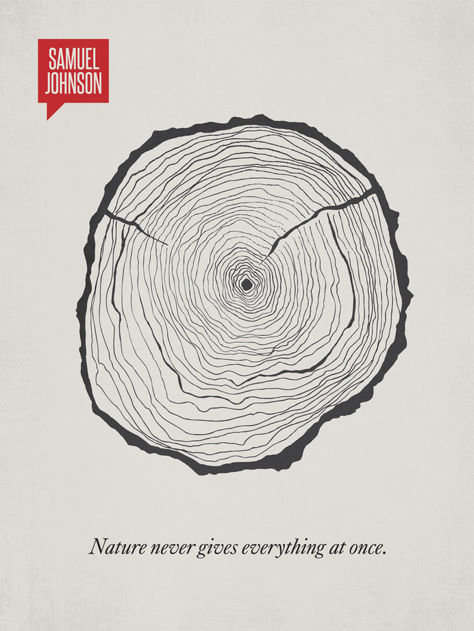 Delicieux A Clever Visual Representation Of Famous Quotes | Marvelous #rings #trunk  #tree #