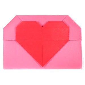 How to make a large heart origami envelope (http://www.origami-make.org/howto-origami-envelope.php)